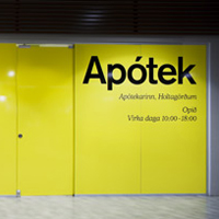 Apótekarinn - Identity and shop signage